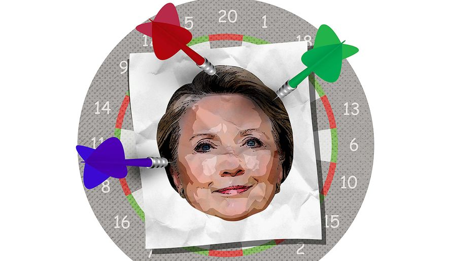 News Media Begins to Turn on Hillary Illustration by Greg Groesch/The Washington Times