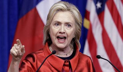 Hillary Rodham Clinton's comparing Russian's Vladimir Putin to Hitler worries both GOP and Democrat critics. (Associated Press)