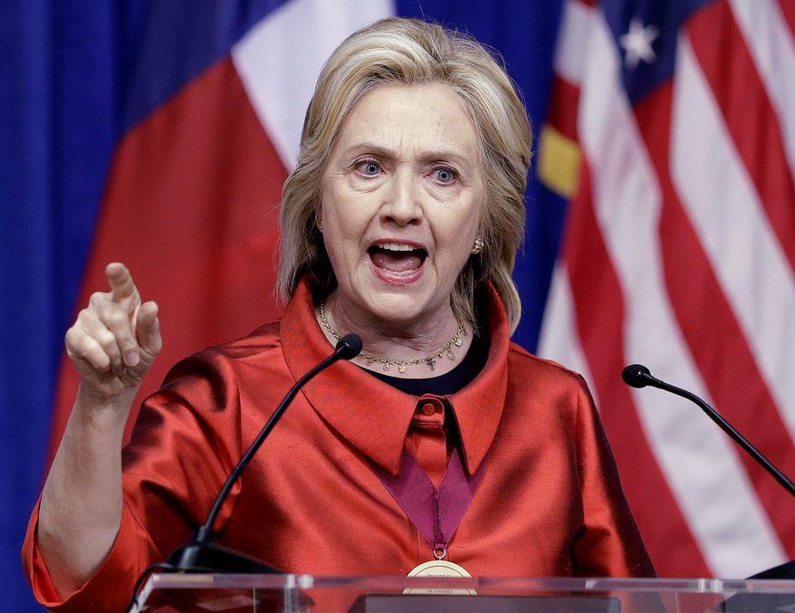Hillary Rodham Clinton's comparing Russian's Vladimir Putin to Hitler worries both GOP and Democrat critics. (Associated Press)