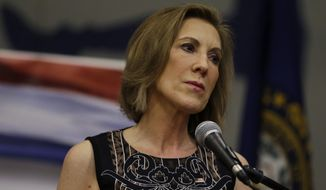 Republican presidential candidate, former Hewlett-Packard CEO Carly Fiorina listens during at a campaign event at New Boston Central School, Tuesday, June 9, 2015, in New Boston, N.H. (AP Photo/Elise Amendola) ** FILE **