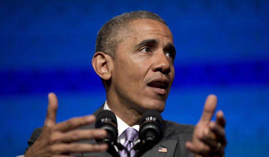 President Barack Obama speaks to the Catholic Hospital Association Conference at the Washington Marriott Wardman Park in Washington, Tuesday, June 9, 2015. (AP Photo/Carolyn Kaster) ** FILE **