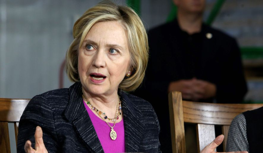 Democratic presidential candidate Hillary Rodham Clinton has not said whether she supports the decision of her former boss, President Obama, to send more U.S. military troops to train and advise Iraqi soldiers. (Associated Press)