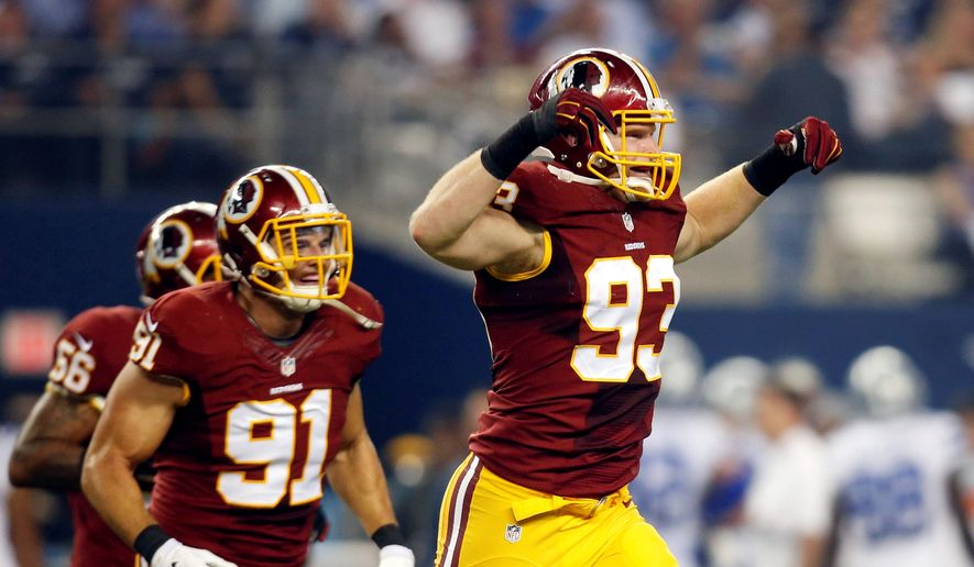 Washington Redskins linebacker Trent Murphy has put in a tiring offseason where he's put on about 10 pounds of muscle training in Arizona in order to improve on his rookie season. (Associated Press)