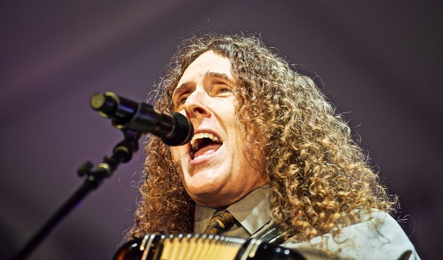 """""""Weird Al"""" Yankovic performs at The Governors Ball Music Festival at Randall's Island Park on Sunday, June 7, 2015 in New York.  (Associated Press)"""