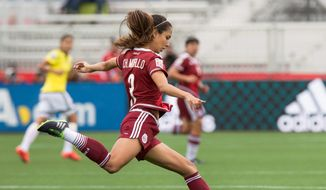 Mexico's Christina Murillo is one of 12 players on the team's roster with U.S. roots. A senior at the University of Michigan, Murillo is from Ojai, California. (Associated Press)
