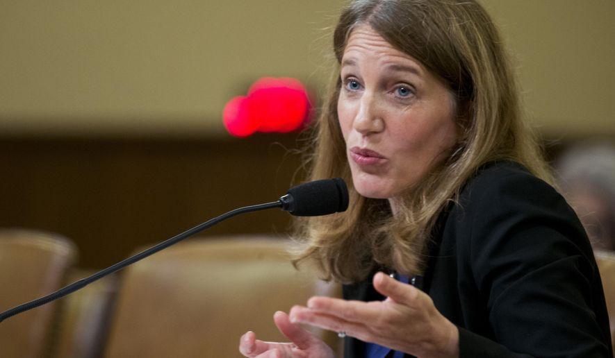 Health and Human Services Secretary Sylvia Burwell testifies on Capitol Hill in Washington on June 10, 2015, before the House Ways and Means Committee hearing on President Obama's health care law. Burwell said it will be up to Congress and the states to decide what to do should the Supreme Court annul federal subsidies that are a cornerstone of Obama's health care law. (Associated Press) **FILE**