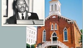 Dexter Avenue King Memorial Baptist Church in Montgomery, Alabama, where the Rev. Martin Luther King Jr. held his first full-time pastorate.