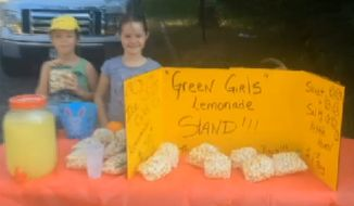 Police in Overton, Texas, forced a pair of little girls to shut down their makeshift lemonade stand after only an hour of business. (KLTV)