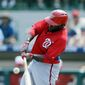Tony Gwynn Jr. is one of a group of offsprings in the Nationals organization with fathers who were once major-league All-Stars. (Associated Press)