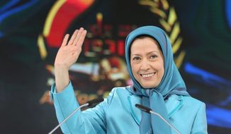 "Maryam Rajavi, the leader of the National Council of Resistance of Iran, says Western powers stand ""against the Iranian people's will."" (Associated Press) **FILE**"