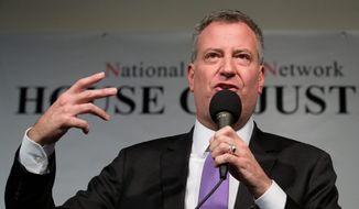 New York City Mayor Bill de Blasio (Associated Press) **FILE**