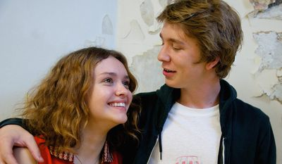 "Thomas Mann was cast with Olivia Cooke in ""Me and Earl and The Dying Girl"" because of their repartee. (Associated Press)"