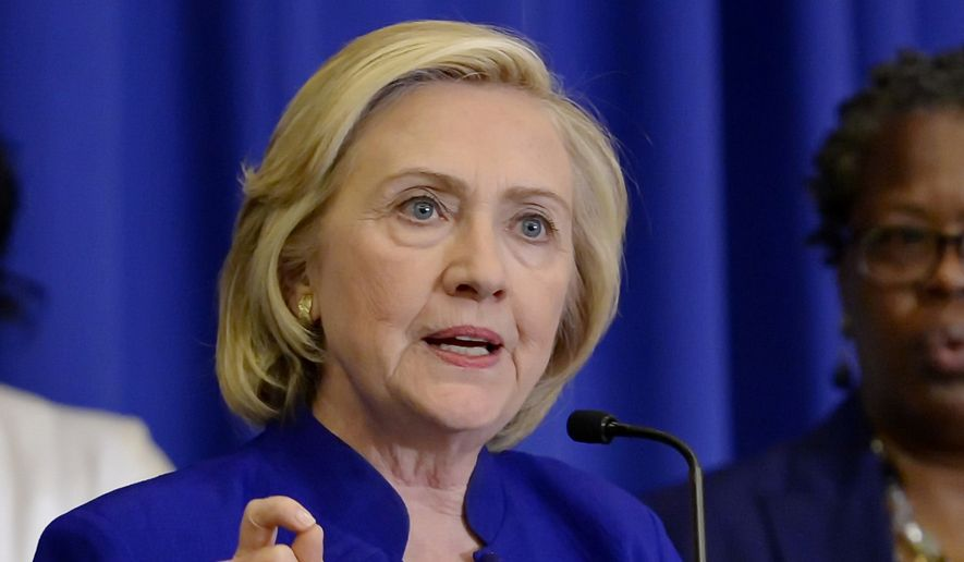 Democratic presidential candidate, former Secretary of State Hillary Rodham Clinton speaks in Columbia, S.C., on May 27, 2015. (Associated Press) **FILE**