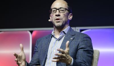 Twitter CEO Dick Costolo speaks during a panel discussion at the International Consumer Electronics Show in Las Vegas on Jan. 8, 2014. (Associated Press) **FILE**
