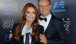 "FILE - In this May 31, 2015 file photo, Roma Downey, left, and Mark Burnett arrive at the Critics' Choice Television Awards in Beverly Hills, Calif. The TLC network said Thursday, June 11, that it will air their new series, ""Answered Prayers,"" starting next month. It will feature stories of people in life-threatening situations who have experienced moments they regard as divine intervention. (Photo by Richard Shotwell/Invision/AP, File)"