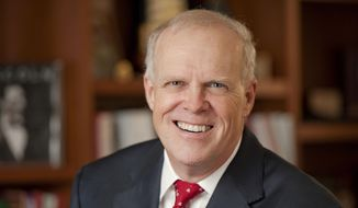 This 2011 photo release by Stanford News Service shows Stanford University President John Hennessy. The San Jose Mercury News reports that Hennessy announced on Thursday, June 11, 2015 at the university's Faculty Senate meeting that he will leave in the summer of 2016 in favor of research and teaching. (Linda A. Cicero/Stanford News Service via AP) ** FILE **