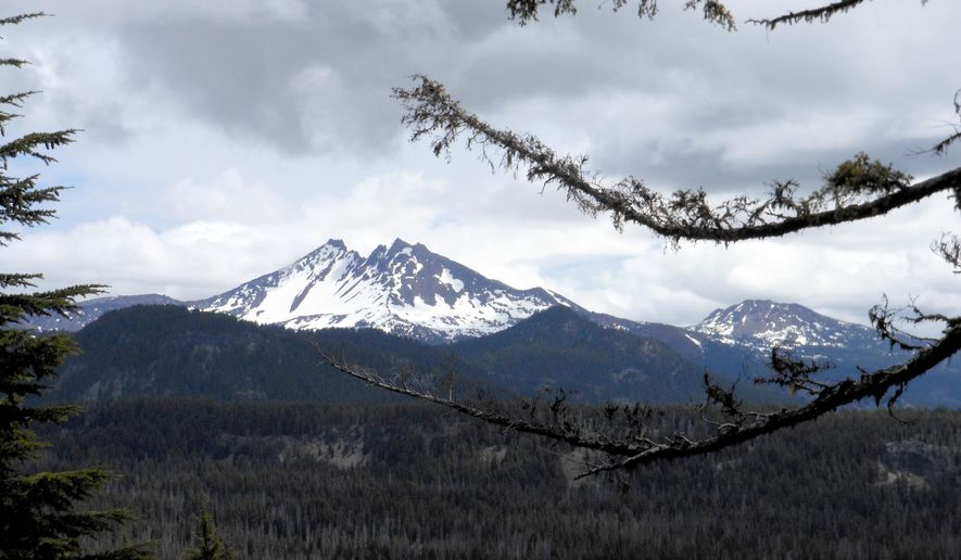 This June 4, 2015 photo shows Koosah Mountain near Bend, Ore. The climb to the top of 6,520-foot Koosah Mountain is rewarding.    (Mark Morical /The Bulletin via AP)