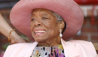 Writer Maya Angelou is seen here at her home in Winston-Salem, N.C., on May 20, 2010. (Associated Press) **FILE**