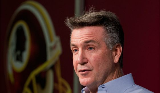 Redskins president Bruce Allen helped lobby for the deal that led to the training camp facility in Richmond, and could help influence a new stadium built in Virginia. (Associated Press) ** FILE **