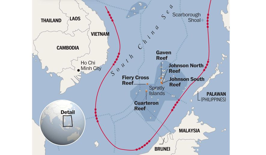 South China Sea map to accompany Lyons article of June 15, 2015