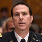 Army Lt. Col. Jason Amerine testified to Congress last week about retaliation against whistleblowers. (Associated Press)