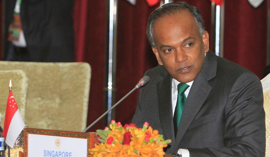 Singapore Foreign Minister K. Shanmugam (Associated Press)