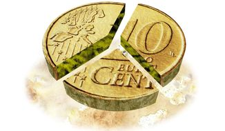 Dividing the Euro Into Three Currencies Illustration by Greg Groesch/The Washington Times