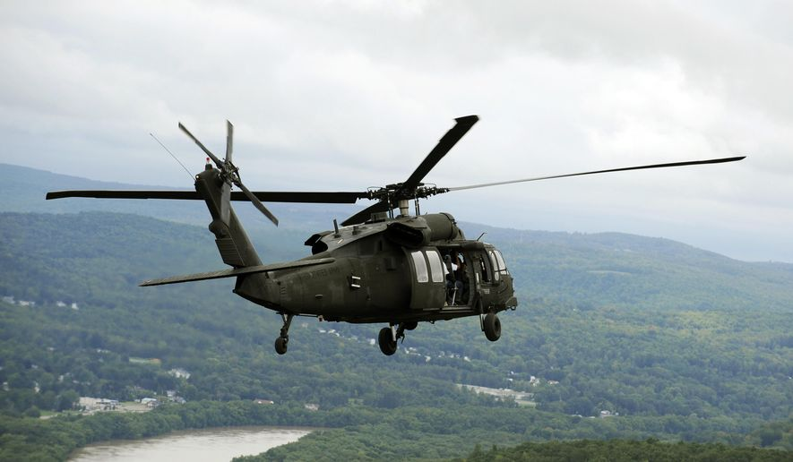A New York National Guard Sikorsky Blackhawk UH 60 Helicopter Carries Gov
