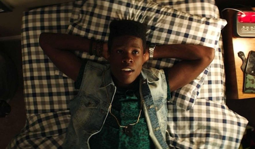 "In this image released by Open Road Films, Shameik Moore stars as Malcolm in a scene from, ""Dope."" (Rachel Morrison/Open Road Films via AP)"