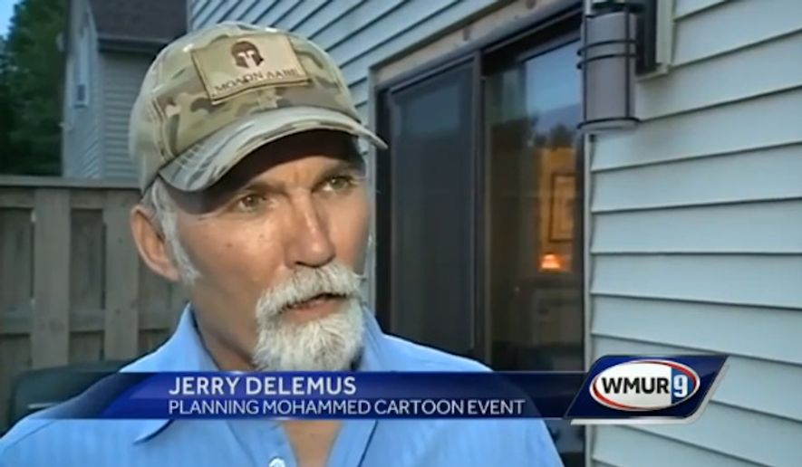 "Jerry Delemus, a 60-year-old former Marine, is planning a ""Draw Muhammad"" art contest in New Hampshire this August, inspired by Pamela Geller's free speech event last month in Garland, Texas, where two suspected jihadis were fatally shot by police. (WMUR 9)"