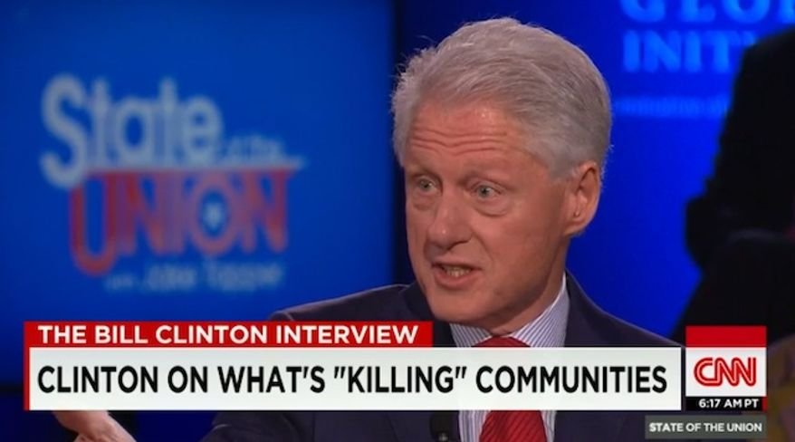 Former President Bill Clinton on Sunday blamed the recent unrest in Baltimore on people owning too many guns in this city, combined with a lack of trust in the local police department. (CNN)