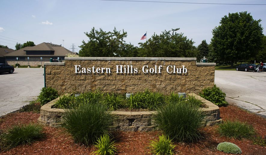 This May 28, 2015 photo shows the front of the Eastern Hills Golf Course in Kalamazoo, Mich.   The Kalamazoo City Commission has agreed to sell Eastern Hills Golf Course for $2.2 million to a buyer with plans to redevelop the site into commercial and residential properties. Commissioners unanimously approved the sale to JTM Management on Monday, June 16.  (Christian Randolph/Kalamazoo Gazette-MLive Media Group via AP) ALL LOCAL TELEVISION OUT; LOCAL TELEVISION INTERNET OUT