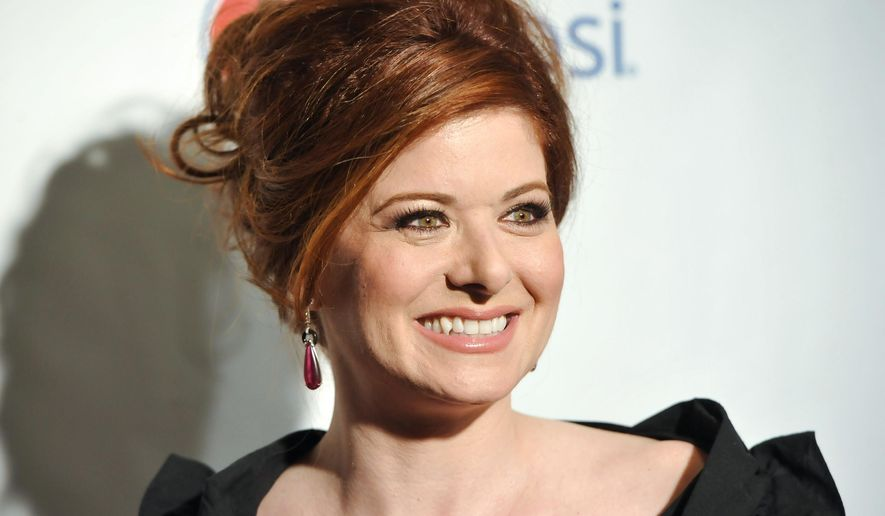 """FILE - In this May 17, 2013 file photo, actress Debra Messing arrives at the 79th Annual Drama League awards in New York.  Messing has received the annual Pell Award honoring those in the arts and made a pitch to restore acting classes at East Greenwich High School in East Greenwich, R.I. The """"Will & Grace"""" star joined about 300 arts lovers at Trinity Rep in Providence Monday, April 15, 2015 night to accept the Pell Award for Distinguished Achievement in the Arts.(Photo by Evan Agostini/Invision/AP)"""