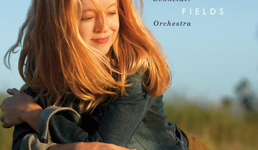 """This CD cover image released by ArtistShare shows Maria Schneider Orchestra's latest release, """"The Thompson Fields."""" (ArtistShare via AP)"""