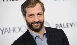 "Producer-director Judd Apatow arrives at the 32nd Annual Paleyfest in Los Angeles, March 8, 2015. Mr. Apatow's latest project, a book titled, ""Sick in the Head: Conversations About Life and Comedy,"" will be released on Tuesday, June 16. (Photo by Richard Shotwell/Invision/AP) ** FILE **"