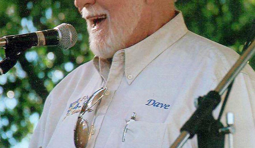 This undated photo provided by Cheryl Wilson shows longtime Great Falls radio broadcaster Dave Wilson. His wife, Cheryl Wilson, says Dave Wilson died Sunday morning, June 14, 2015, in a Great Falls, Mont. hospital of complications related to chronic obstructive pulmonary disease. He was 75. (Cheryl Wilson via AP)