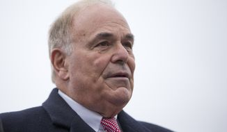 Former Pennsylvania Gov. Ed Rendell stands at the state Capitol in Harrisburg, Pa., on Tuesday, Jan. 20, 2015. (AP Photo/Matt Rourke) ** FILE **