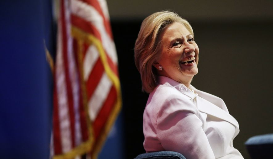 Democratic presidential candidate Hillary Rodham Clinton listens to a question from the audience during a campaign stop at Trident Technical College, Wednesday, June 17, 2015, in North Charleston, S.C. (AP Photo/David Goldman)