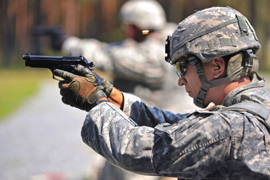 The U.S. Army plans on replacing its M9 with the Modular Handgun System by 2018. (Image: U.S. Army) ** FILE **