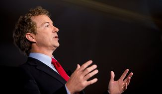 Sen. Rand Paul, Kentucky Republican, said the United States should not give money to countries that persecute Christians. (Associated Press)