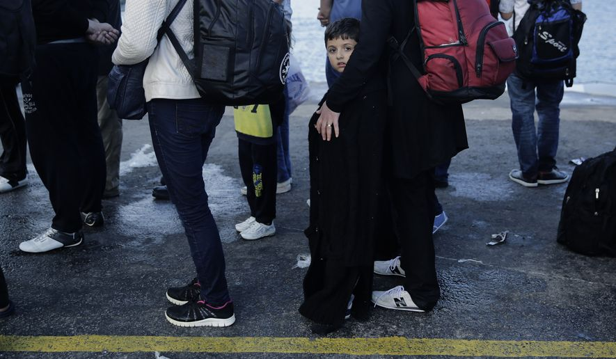 Syria overtook Afghanistan to become the world's biggest source of refugees last year, while the number of people forced from their homes by conflicts worldwide rose to a record 59.5 million, the United Nations' refugee agency said Thursday, June 18, 2015. (AP Photo/Petros Giannakouris, File)
