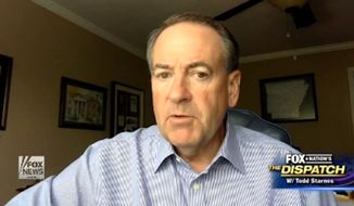 "Republican presidential candidate Mike Huckabee said Friday that he was disappointed President Obama used Wednesday's Charleston shootings to ""grandstand"" on gun control, arguing ""the one thing"" that could have stopped the gunman is another gun. (Fox News)"
