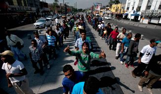 Central American migrants caravanning through Mexico seek greater protection for transiting migrants as tens of thousands have disappeared while making their journey through Mexico, where they are vulnerable to extortion and abuse by police and gangs. (associated press)