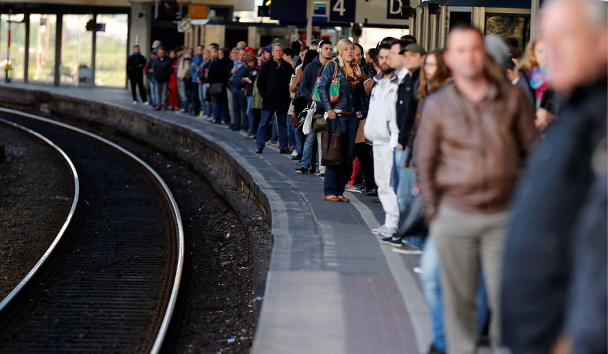 Train conductors' striking against what they view as unfair labor rules threatens to upset Germany's reputation for timely public transportation. (associated press)