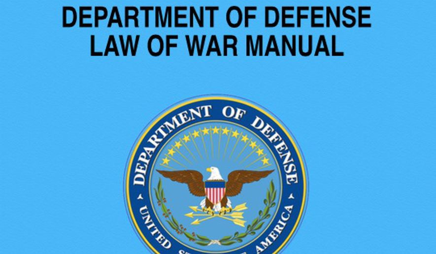 """Department of Defense Law of War Manual."""