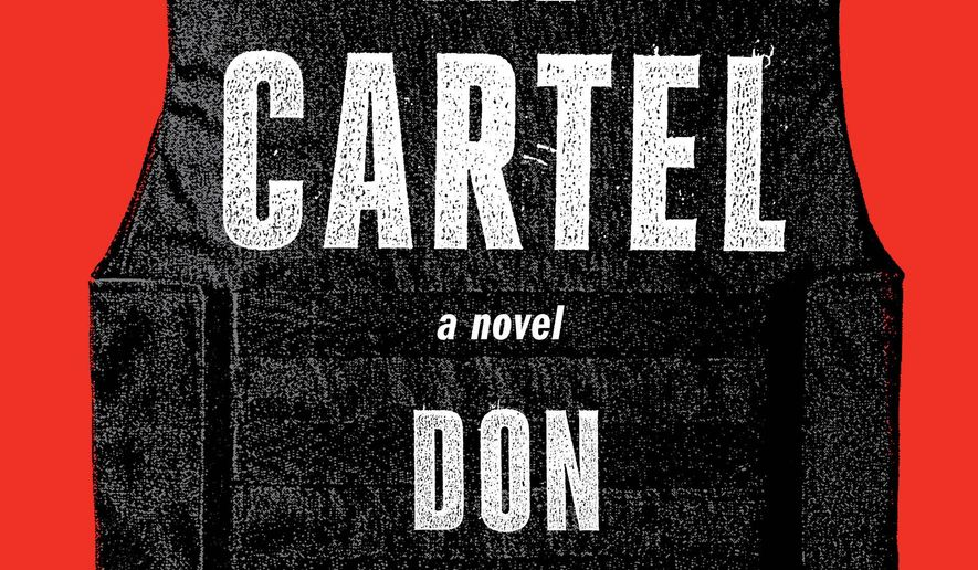 """This photo provided by courtesy of Alfred A. Knopf shows the cover of the book, """"The Cartel,"""" by author Don Winslow. (Alfred A. Knopf  via AP)"""