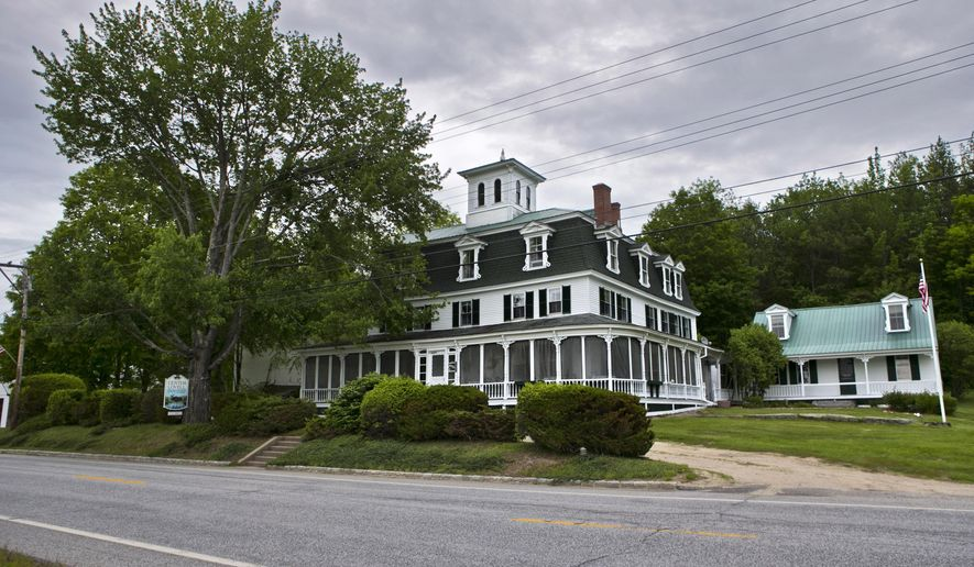 FILE - This June 5, 2015, file photo shows the Center Lovell Inn in Lovell, Maine. Maine State Police said Monday, June 22, 2015, they are investigating whether an innkeeper violated state law in an essay contest with her 210-year-old country inn as the prize. (AP Photo/Robert F. Bukaty, File)