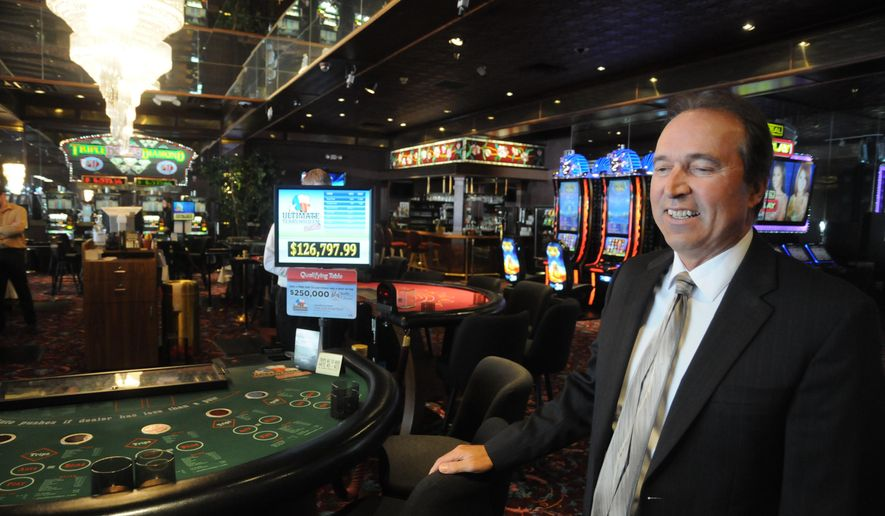Tom Rensch, managing partner at the Silverado-Franklin Historic Hotel and Gaming Complex,at the Silverado in Deadwood, S.D., Thursday, June 18, 2015. Rensch plans on offering craps and roulette beginning on July 1. (AP Photo/James Nord)