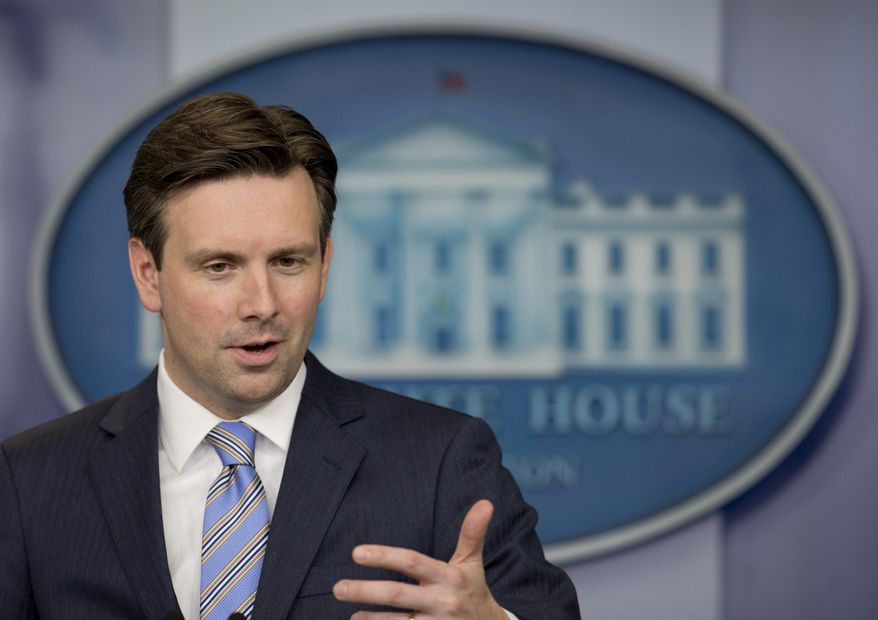White House press secretary Josh Earnest speaks during the daily news briefing at the White House, in Washington, Monday, June 22, 2015. (AP Photo/Carolyn Kaster) ** FILE **