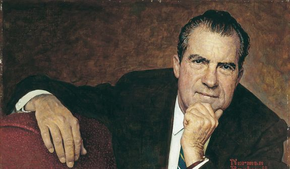 Richard Nixon           Portrait by Norman Rockwell/Courtesy of the National Portrait Gallery